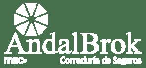 Logo AndalBrok Correduría de Seguros en blanco